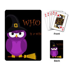 Who Is A Witch?   Purple Playing Card by Valentinaart