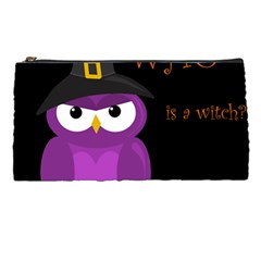 Who Is A Witch?   Purple Pencil Cases by Valentinaart