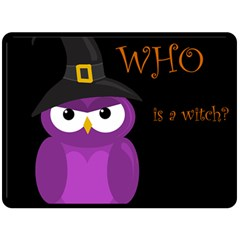 Who Is A Witch?   Purple Fleece Blanket (large)  by Valentinaart