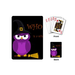 Who Is A Witch?   Purple Playing Cards (mini)  by Valentinaart