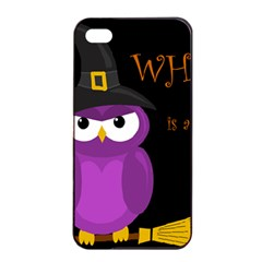 Who Is A Witch?   Purple Apple Iphone 4/4s Seamless Case (black) by Valentinaart