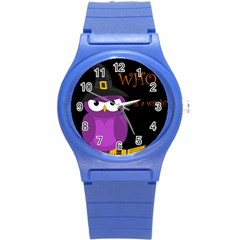 Who Is A Witch?   Purple Round Plastic Sport Watch (s) by Valentinaart