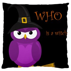 Who Is A Witch?   Purple Large Cushion Case (two Sides) by Valentinaart