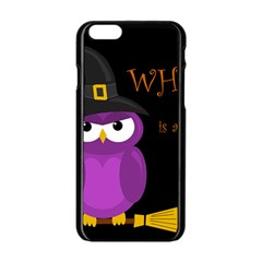 Who Is A Witch?   Purple Apple Iphone 6/6s Black Enamel Case by Valentinaart