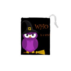 Who Is A Witch?   Purple Drawstring Pouches (xs)  by Valentinaart