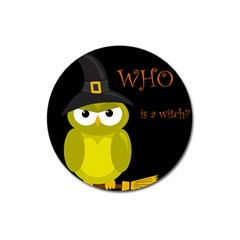 Who Is A Witch?   Yellow Magnet 3  (round) by Valentinaart