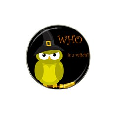 Who Is A Witch?   Yellow Hat Clip Ball Marker (4 Pack) by Valentinaart