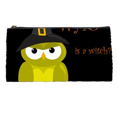 Who Is A Witch?   Yellow Pencil Cases by Valentinaart