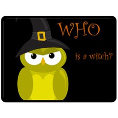 Who Is A Witch?   Yellow Fleece Blanket (large)  by Valentinaart