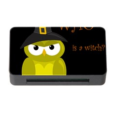 Who Is A Witch?   Yellow Memory Card Reader With Cf by Valentinaart