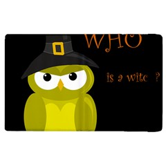 Who Is A Witch?   Yellow Apple Ipad 3/4 Flip Case by Valentinaart