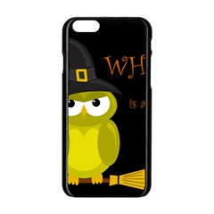 Who Is A Witch?   Yellow Apple Iphone 6/6s Black Enamel Case by Valentinaart