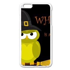 Who Is A Witch?   Yellow Apple Iphone 6 Plus/6s Plus Enamel White Case by Valentinaart