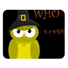 Who Is A Witch?   Yellow Double Sided Flano Blanket (large)  by Valentinaart
