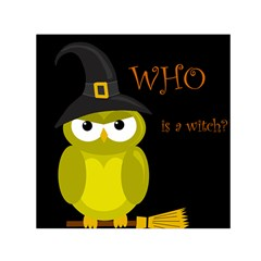 Who Is A Witch?   Yellow Small Satin Scarf (square) by Valentinaart