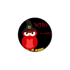 Who Is A Witch?   Red Golf Ball Marker (4 Pack) by Valentinaart