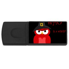 Who Is A Witch?   Red Usb Flash Drive Rectangular (4 Gb)  by Valentinaart