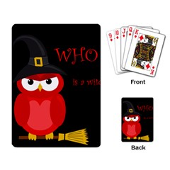 Who Is A Witch?   Red Playing Card by Valentinaart