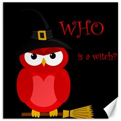 Who Is A Witch?   Red Canvas 20  X 20   by Valentinaart
