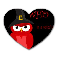 Who Is A Witch?   Red Heart Mousepads by Valentinaart