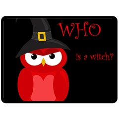 Who Is A Witch?   Red Fleece Blanket (large)  by Valentinaart