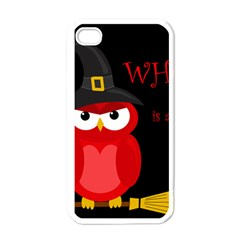 Who Is A Witch?   Red Apple Iphone 4 Case (white) by Valentinaart