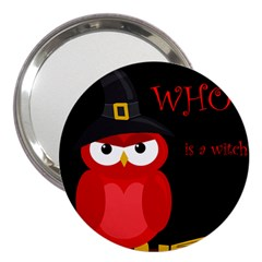 Who Is A Witch?   Red 3  Handbag Mirrors by Valentinaart