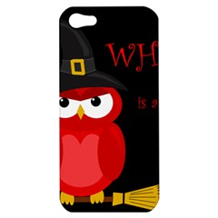 Who Is A Witch?   Red Apple Iphone 5 Hardshell Case by Valentinaart