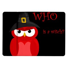 Who Is A Witch?   Red Samsung Galaxy Tab 10 1  P7500 Flip Case by Valentinaart