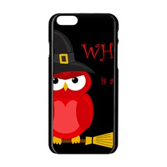 Who Is A Witch?   Red Apple Iphone 6/6s Black Enamel Case by Valentinaart