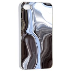 Metallic And Chrome Apple Iphone 4/4s Seamless Case (white) by theunrulyartist