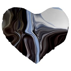 Metallic And Chrome Large 19  Premium Heart Shape Cushions by theunrulyartist