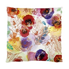 Watercolor Spring Flowers Background Standard Cushion Case (two Sides) by TastefulDesigns