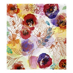 Watercolor Spring Flowers Background Shower Curtain 66  X 72  (large)  by TastefulDesigns