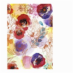 Watercolor Spring Flowers Background Small Garden Flag (two Sides)