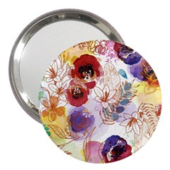 Watercolor Spring Flowers Background 3  Handbag Mirrors