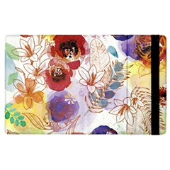 Watercolor Spring Flowers Background Apple Ipad 2 Flip Case
