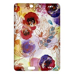 Watercolor Spring Flowers Background Amazon Kindle Fire Hd (2013) Hardshell Case by TastefulDesigns