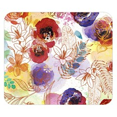 Watercolor Spring Flowers Background Double Sided Flano Blanket (small)  by TastefulDesigns