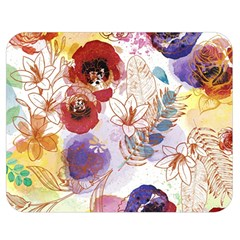 Watercolor Spring Flowers Background Double Sided Flano Blanket (medium)
