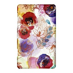 Watercolor Spring Flowers Background Samsung Galaxy Tab S (8 4 ) Hardshell Case