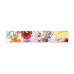 Watercolor Spring Flowers Background Flano Scarf (mini)