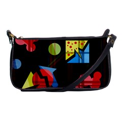 Playful Day Shoulder Clutch Bags by Valentinaart
