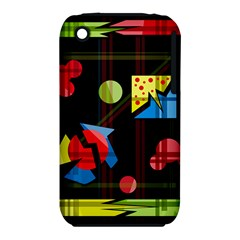 Playful Day Apple Iphone 3g/3gs Hardshell Case (pc+silicone) by Valentinaart