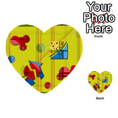 Playful Day   Yellow  Multi Purpose Cards (heart)