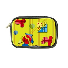 Playful Day   Yellow  Coin Purse by Valentinaart