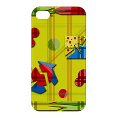 Playful Day   Yellow  Apple Iphone 4/4s Hardshell Case by Valentinaart