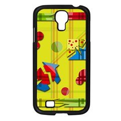 Playful Day   Yellow  Samsung Galaxy S4 I9500/ I9505 Case (black) by Valentinaart