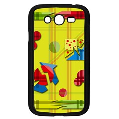 Playful Day   Yellow  Samsung Galaxy Grand Duos I9082 Case (black) by Valentinaart