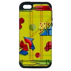 Playful Day   Yellow  Apple Iphone 5 Hardshell Case (pc+silicone) by Valentinaart
